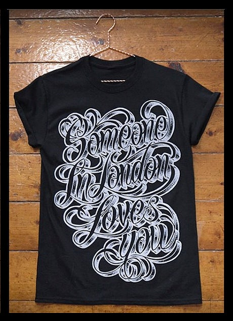 Image of Someone In London Loves You Script T-shirt