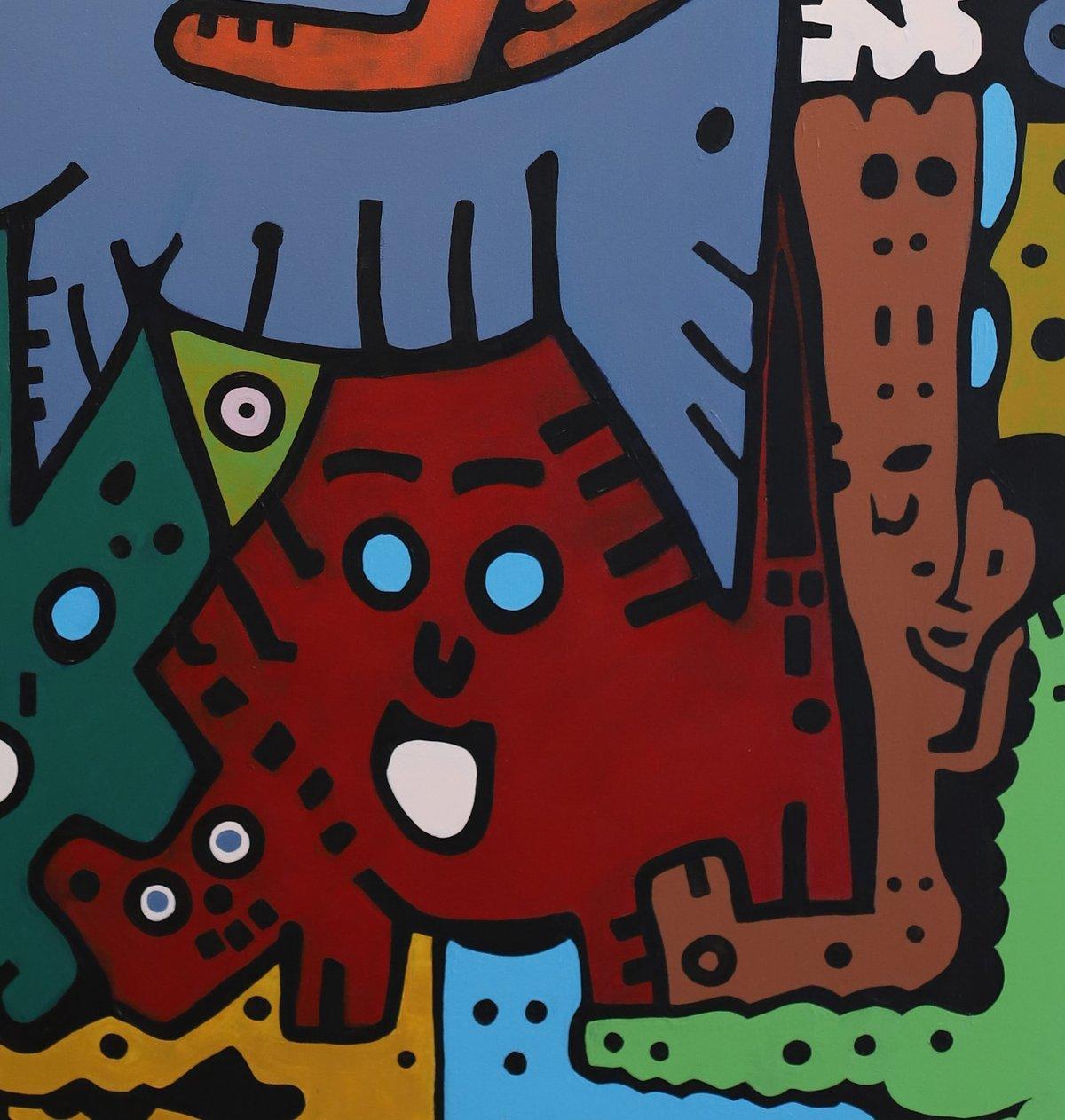 """Image of """"Diálogo Entre Perro Y Gato"""" (Original Painting)"""