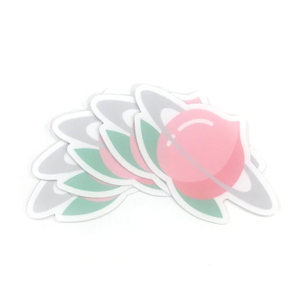 "Image of planet peach | 3"" vinyl sticker"