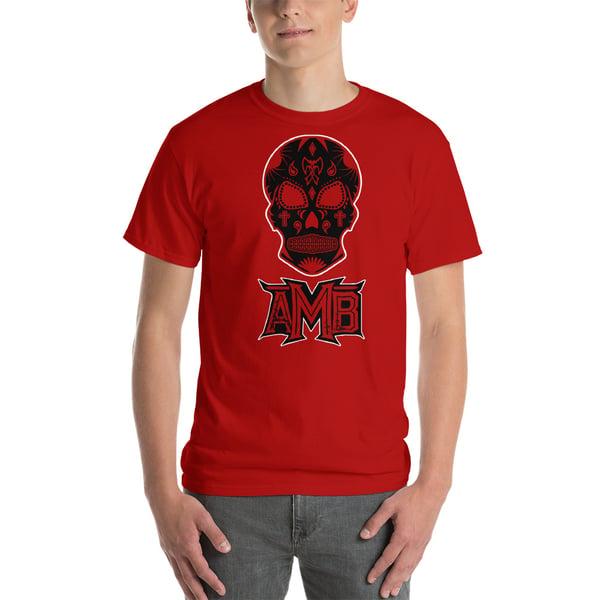Image of AMB Red Muerte Skull Shirt