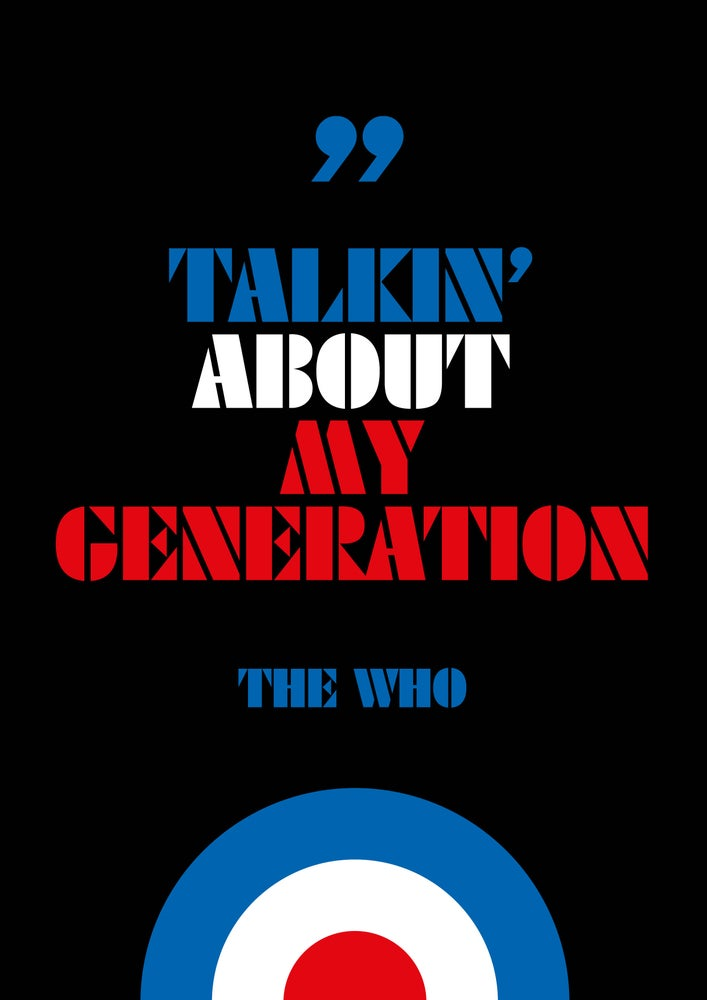 Image of The Who - 'My Generation'- Poster