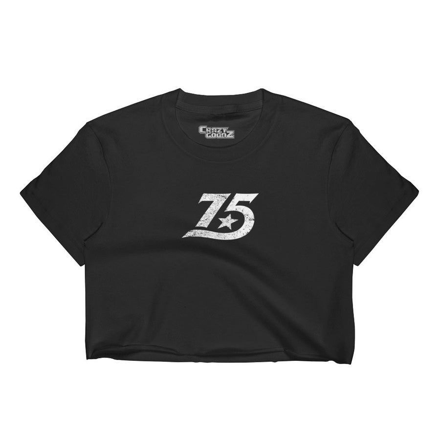 Image of 75 Vintage Women's Crop Top ( Black)