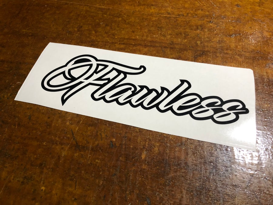 """Image of 12"""" Flawless decal"""