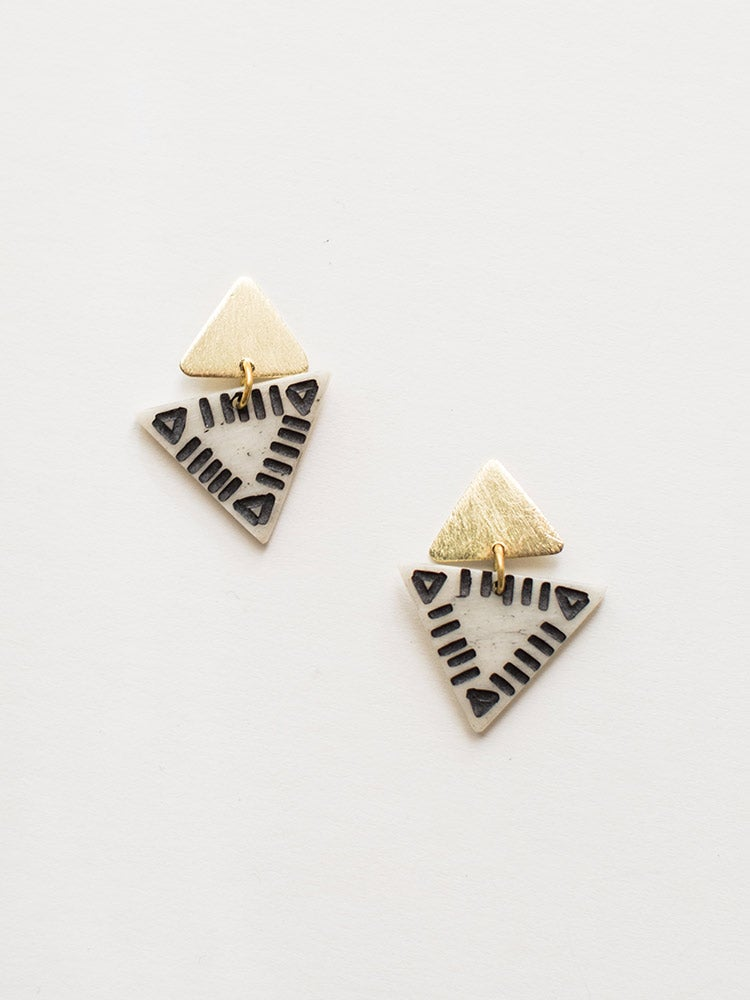 Image of Oblique Triangle Earrings