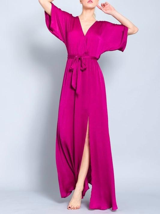 Image of Magenta Kimono Maxi