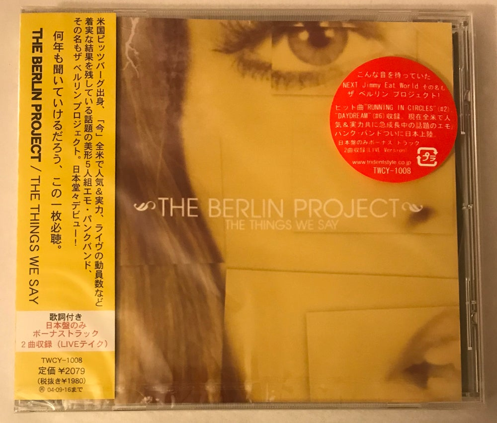 Image of The Berlin Project / The Things We Say / JAPANESE IMPORT / CD