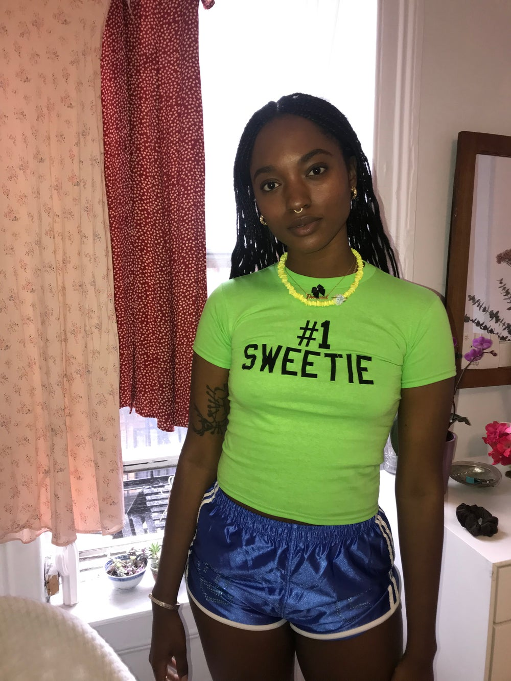 Image of NEW Number 1 Sweetie Tee : Lime Green