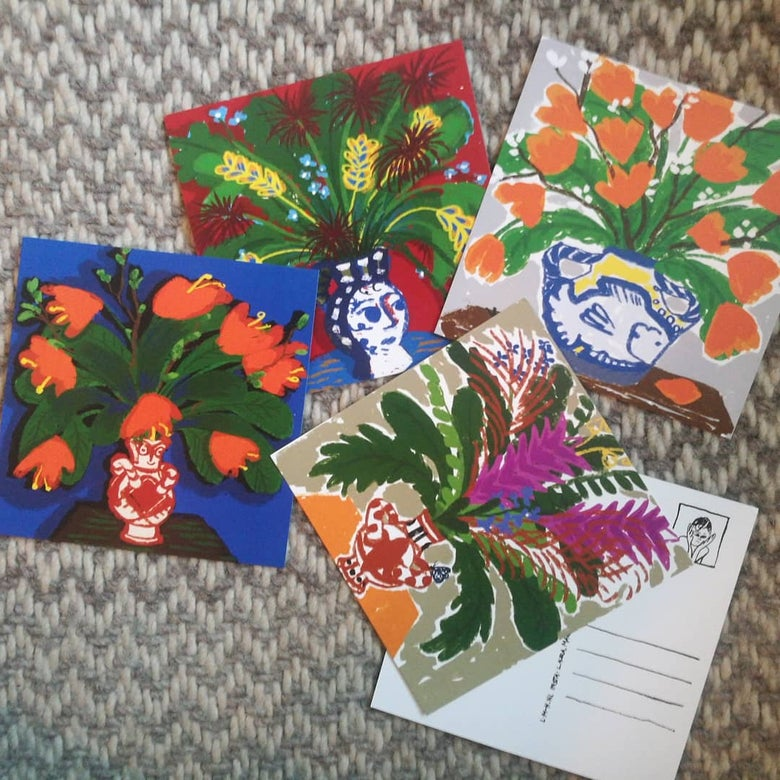 Image of Flower cards serie