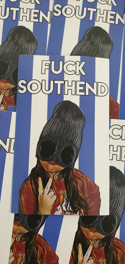 Image of Colchester United, fuck Southend football casuals and ultras sticker pack of 25 10x6cm.