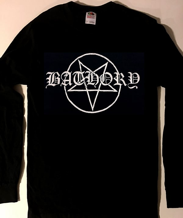 "Image of Bathory "" Pentagram ""  Longsleeve T-shirt"