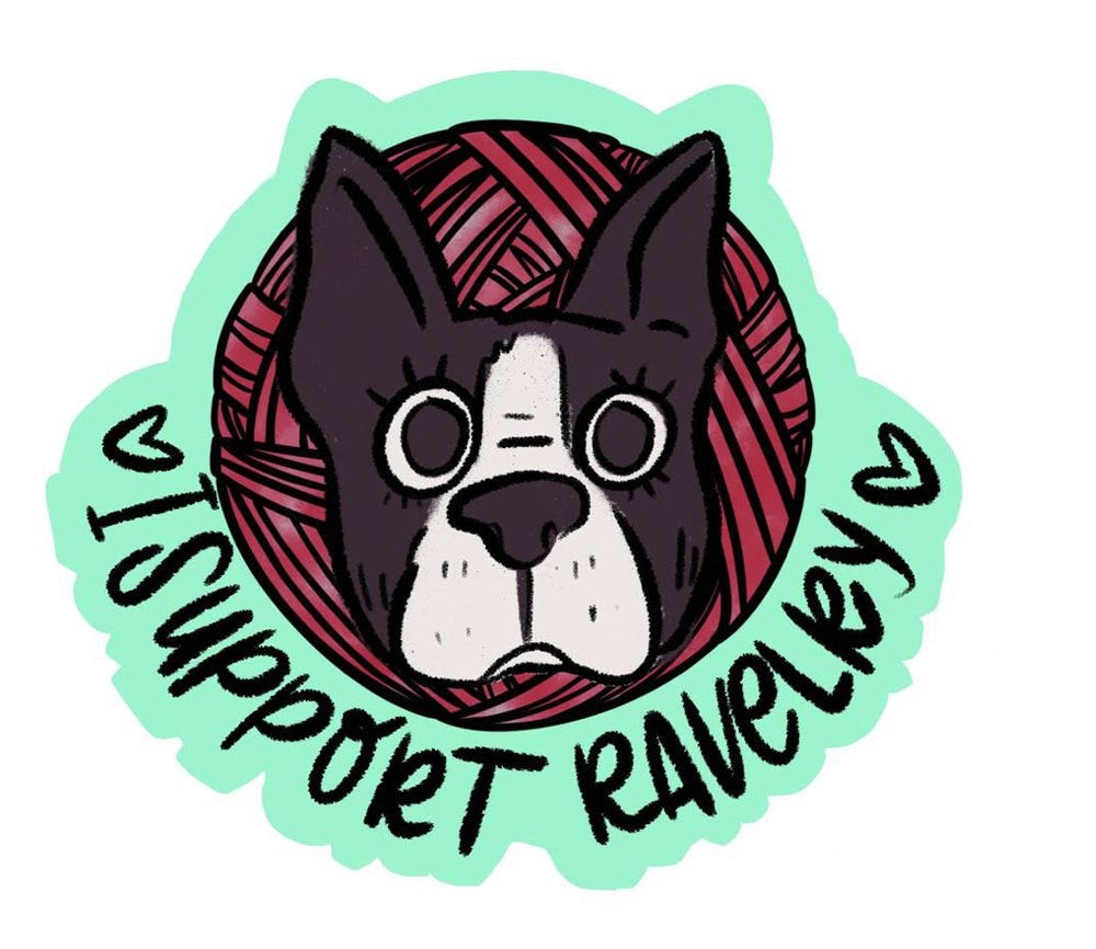 Image of I SUPPORT RAVELRY STICKER