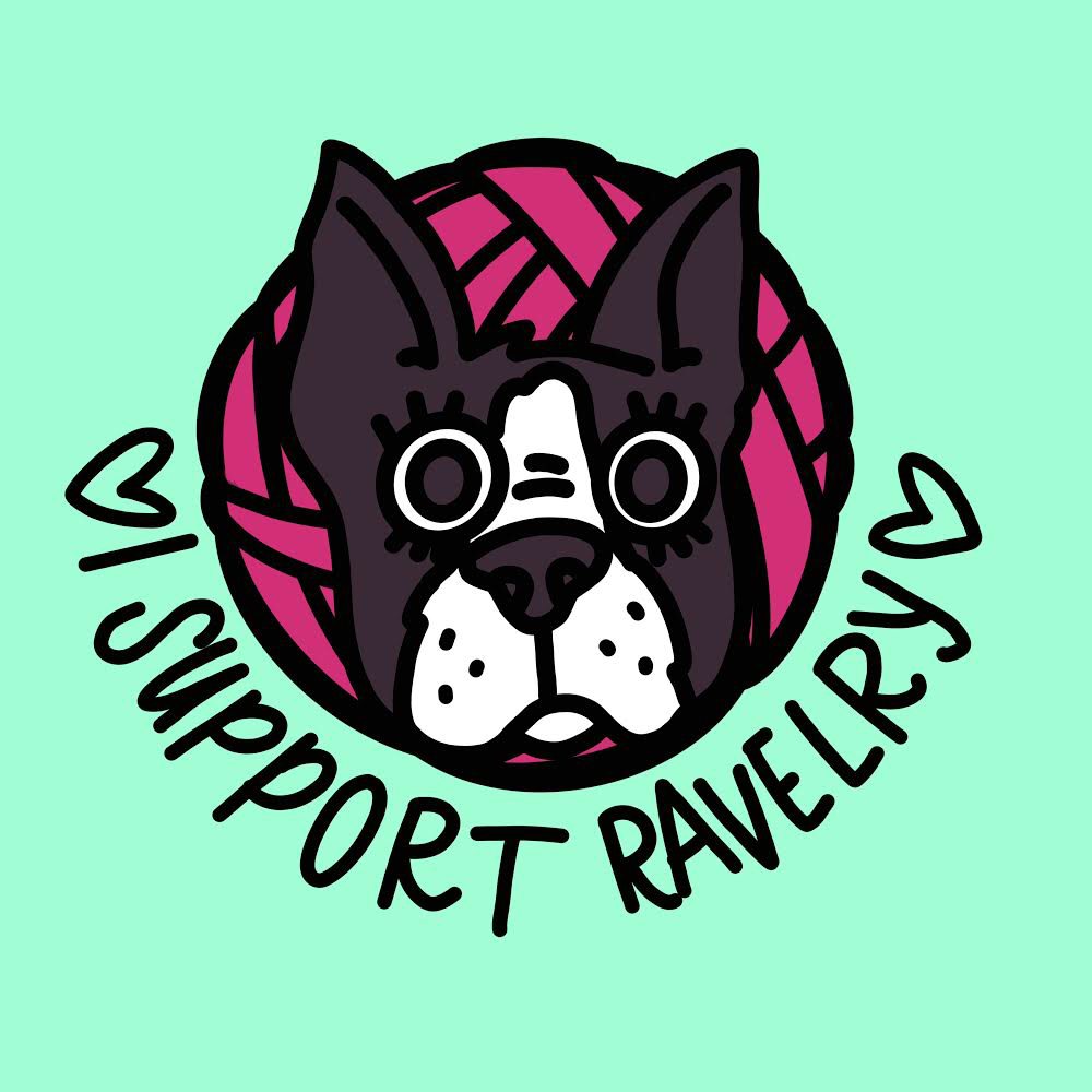 Image of I SUPPORT RAVELRY ENAMEL PIN