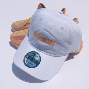 """Image of BOOSTED LONG BAR (SMALL) EMBROIDERY """"CLAY"""" DAD HAT"""