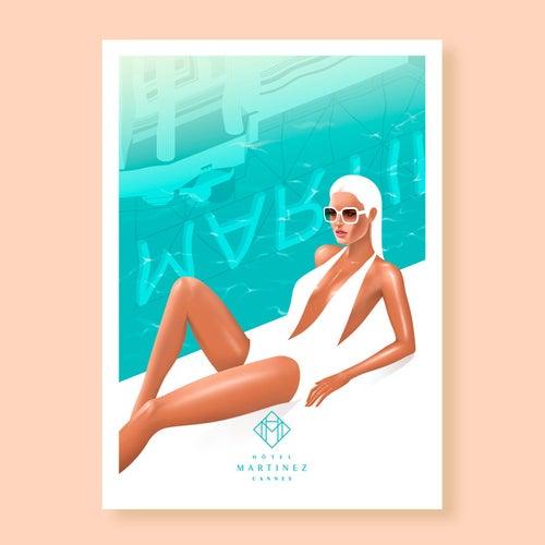 Image of Poolside at the Martinez, Cannes.