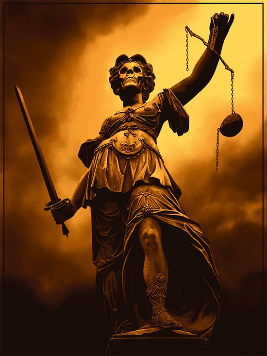 Image of LADY JUSTICE (art print)