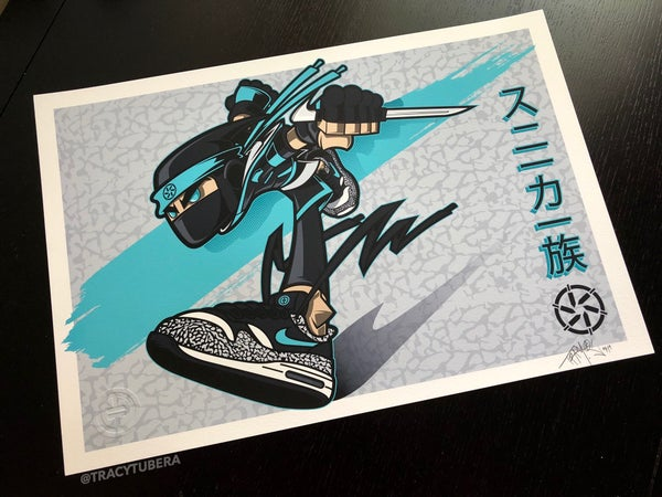 Image of SNEAKER CLANS- AM1 CLAN 'ATMOS' (TEAL EDITION)