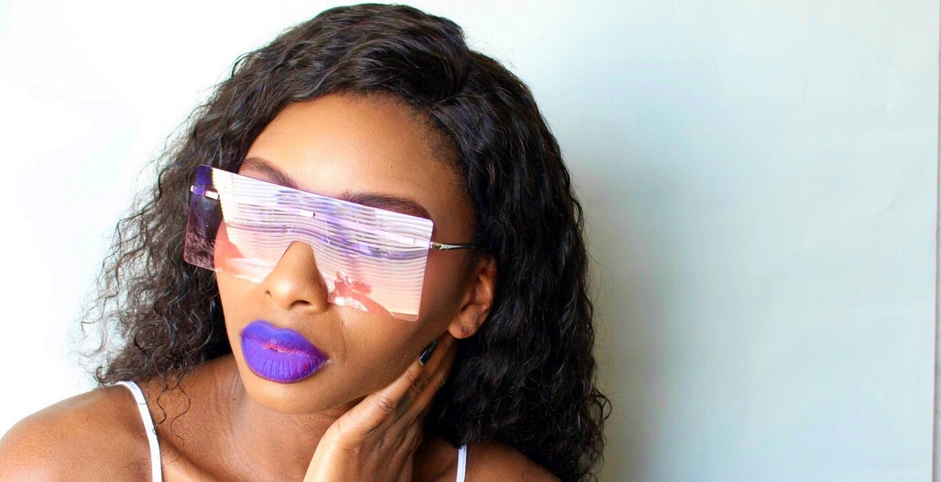 Image of Oversized Square Tinted Sunglasses