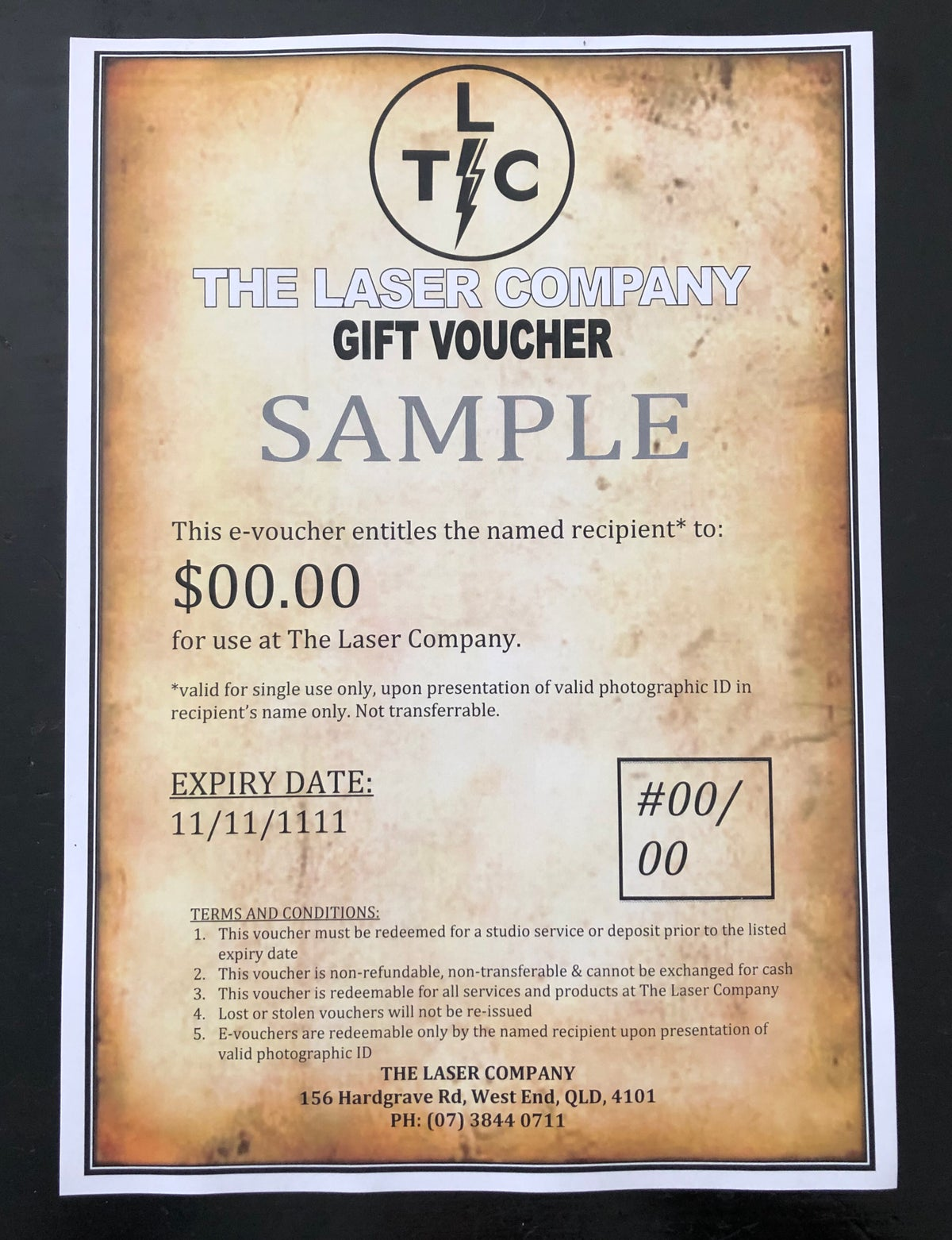 Image of The Laser Company E-Voucher (via email) : all amounts from $80
