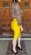 Yellow Bandage Skirt