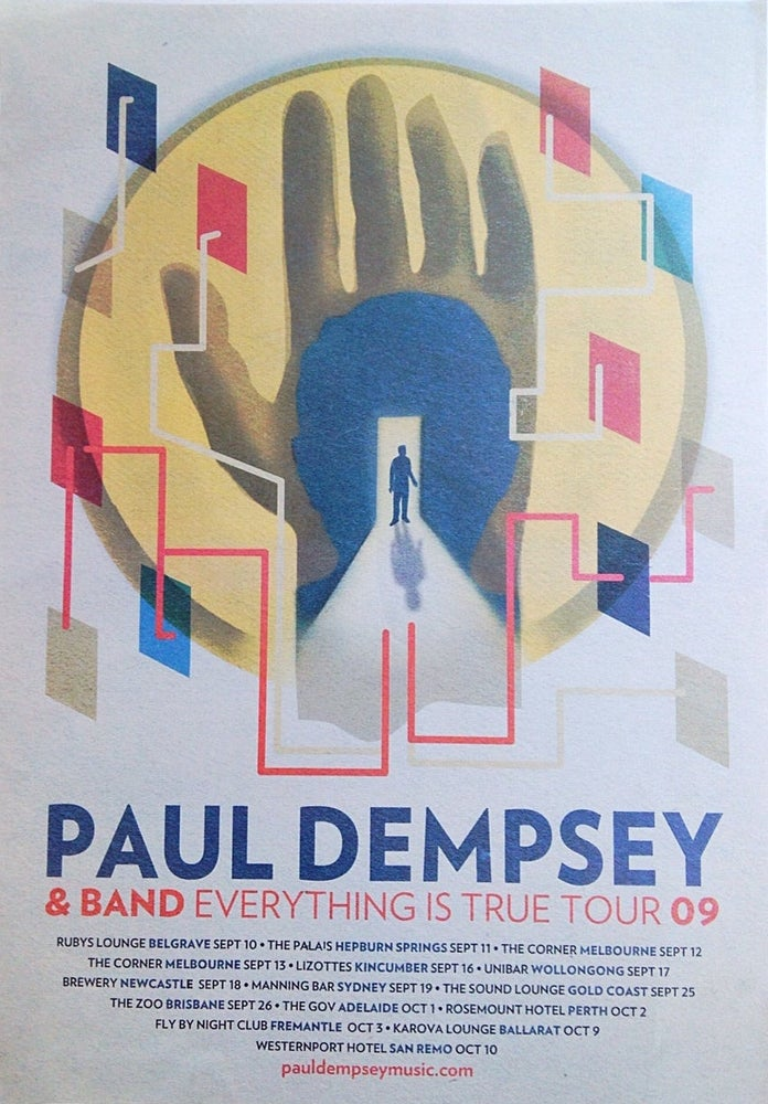 Image of Paul Dempsey 'Everything is True' Tour Poster - VERY limited.