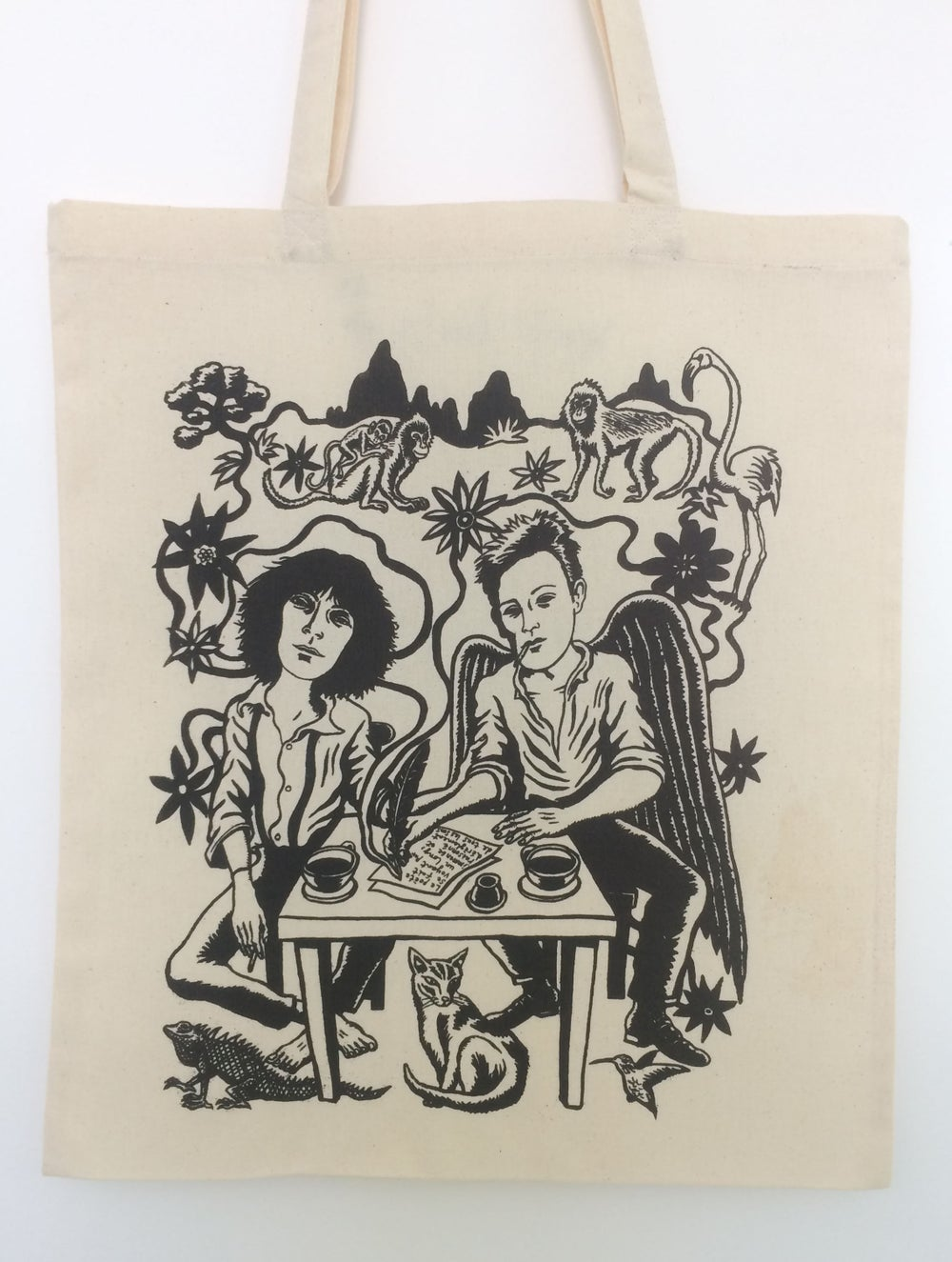 Image of Cosmic Lovers tote bag- Patti Smith and Arthur Rimbaud