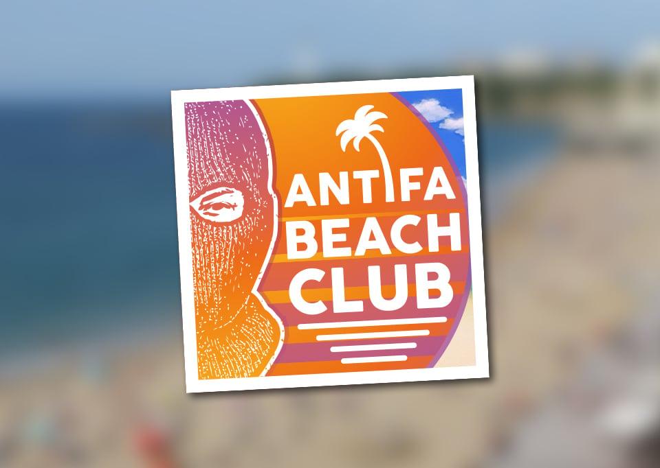 "Image of Lot de 100 autocollants (""ANTIFA BEACH CLUB"")"
