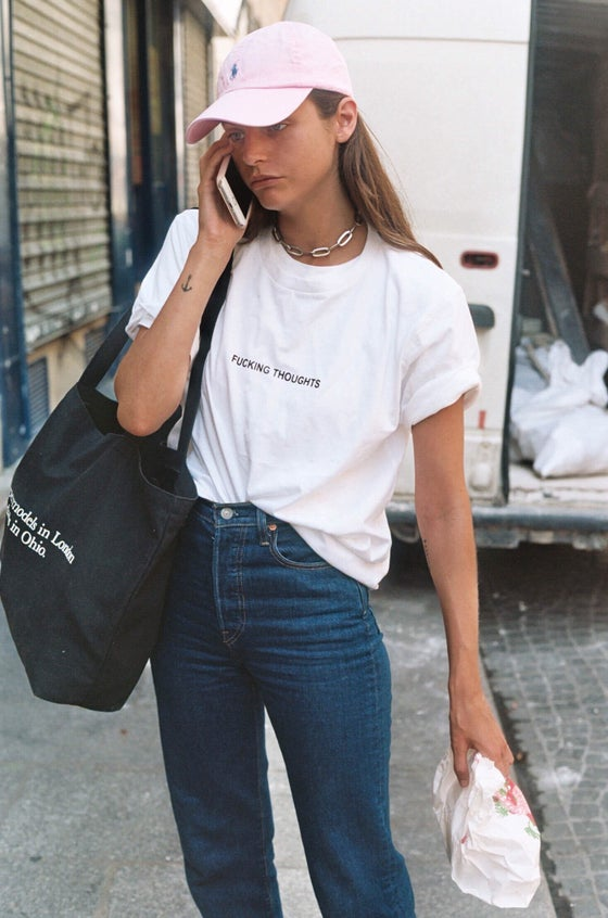 Image of « Fucking Thoughts » T-shirt (White)