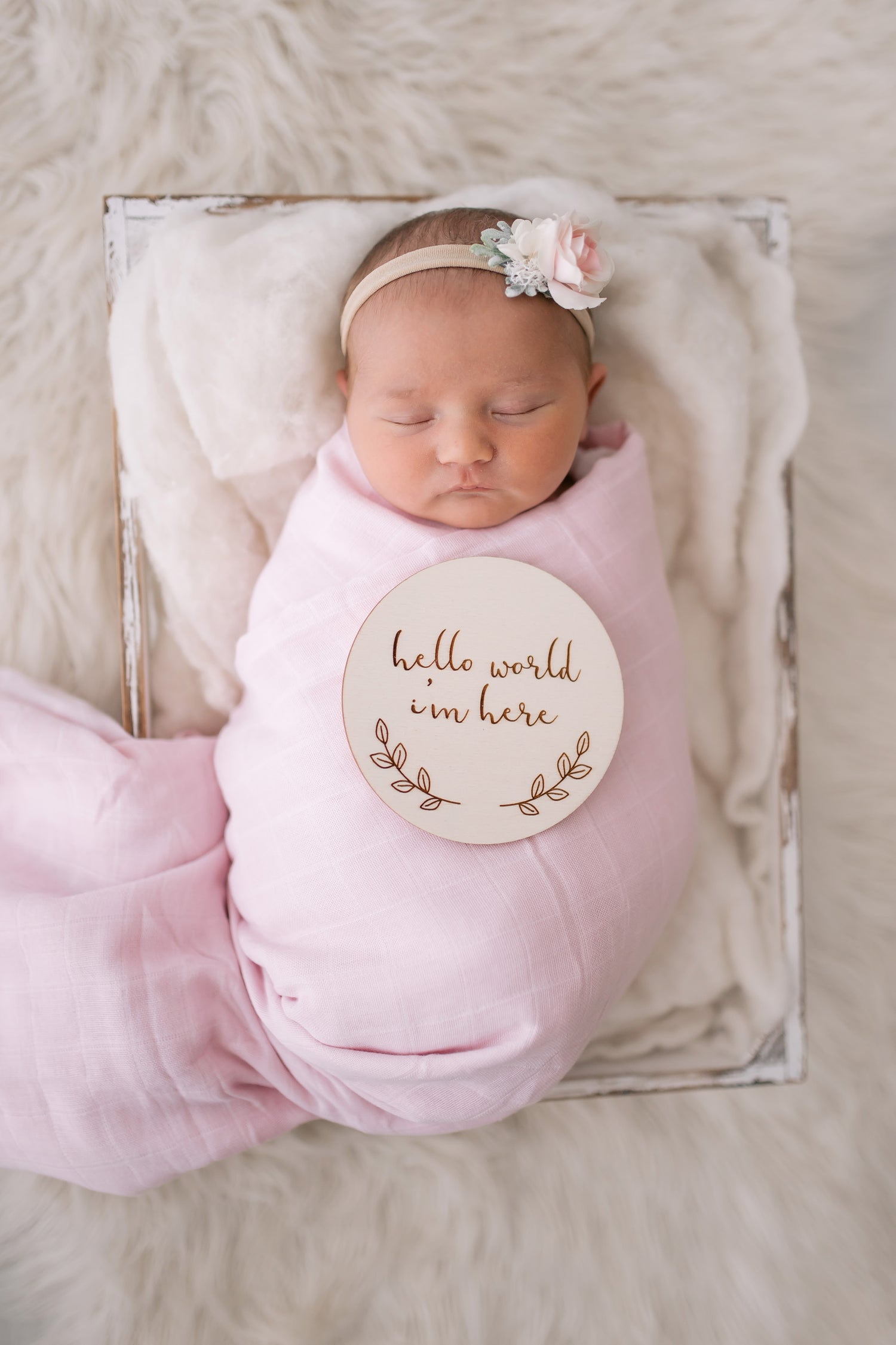 Image of Poppy Script - Birth Announcement Plaque
