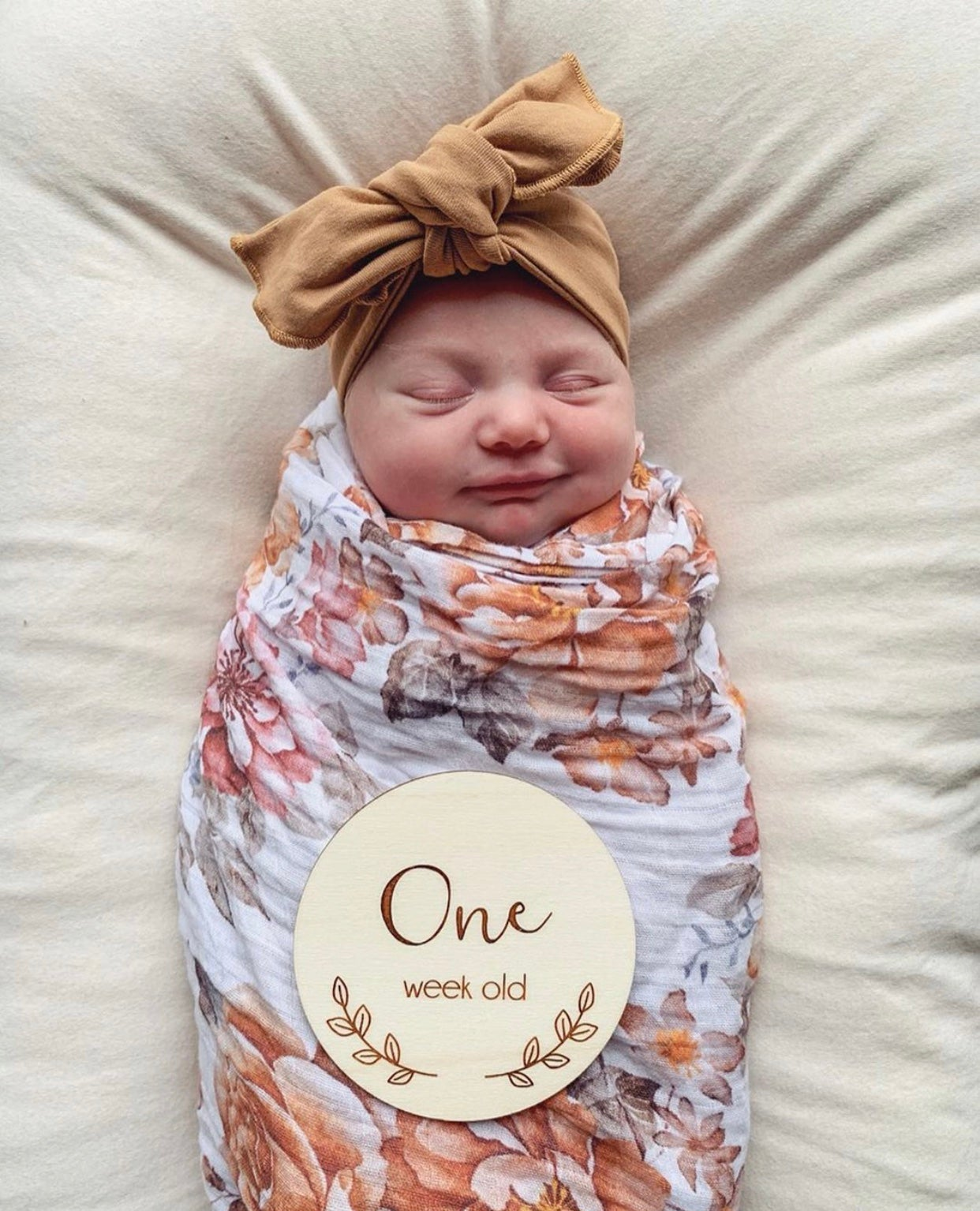 Image of Poppy Script Birth to One Year Milestone Plaques