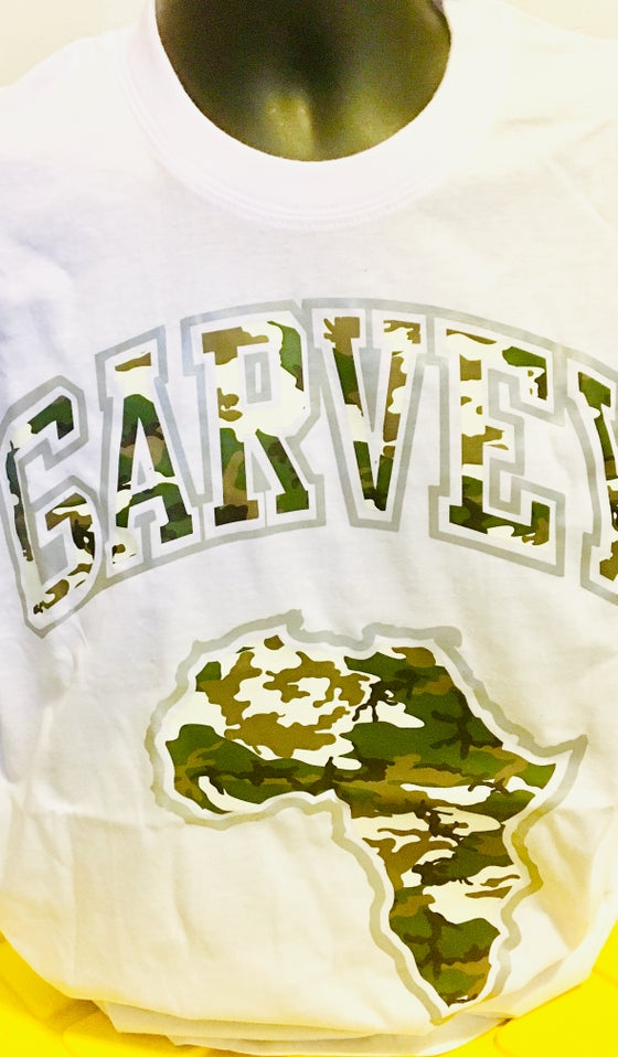 Image of WHITE LIGHT 3M GARVEY™️ CAMO TEE