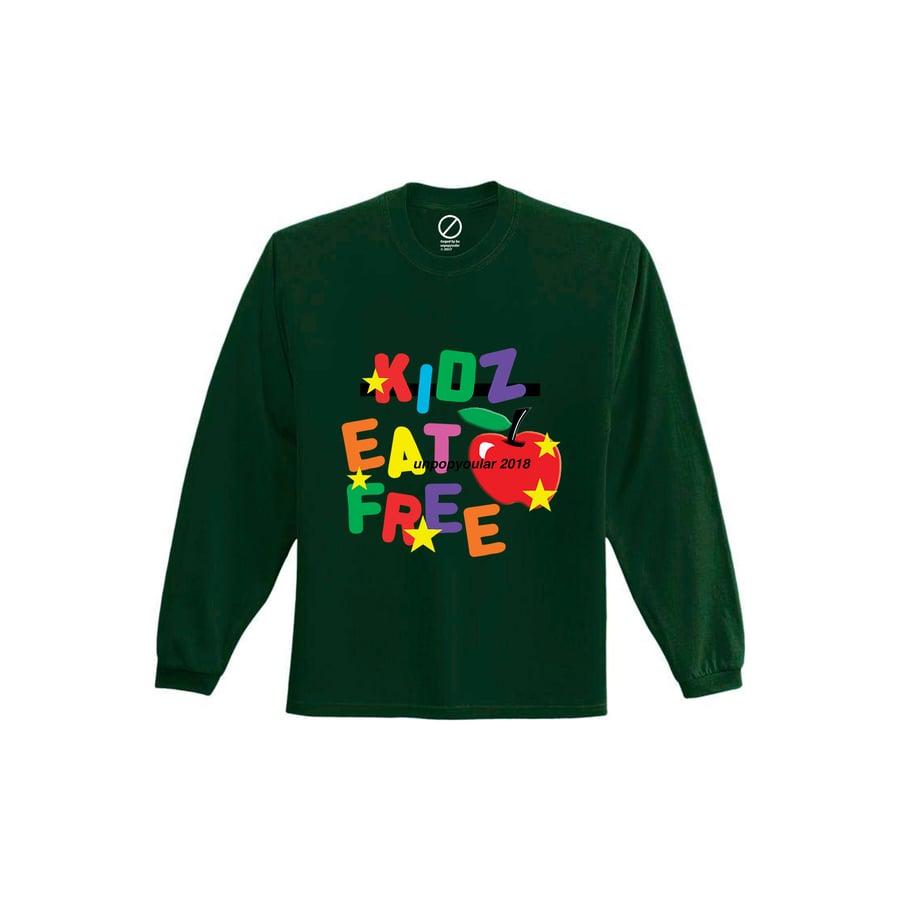 Image of unpopyoular x Underwood Park Kidz Eat Free L/S Top 'Forest'