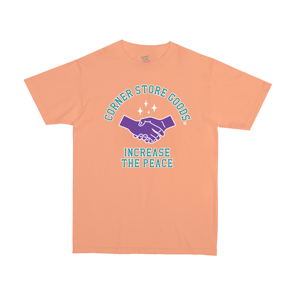 Image of Peach Increase The Peace Tee