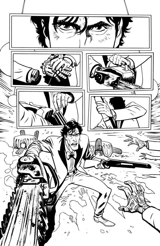 Image of ASH VS THE ARMY OF DARKNESS #5 PAGE 1 ORIGINAL ART