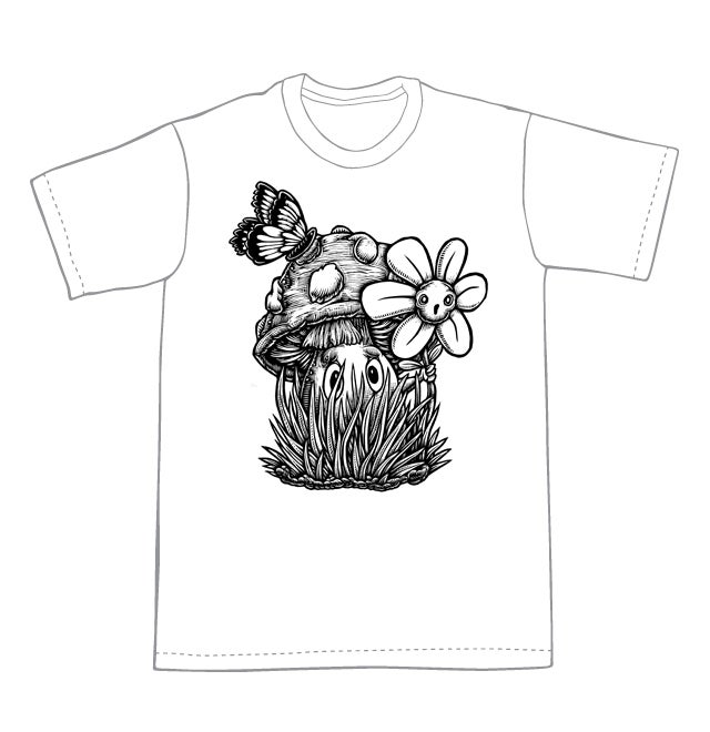 Image of Hiding in the Grass T-shirt **FREE SHIPPING**
