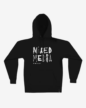 Image of Mixed Media Hoodie · Black