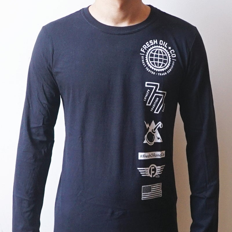 Image of WORLD SPARK L/S TEE - BLACK