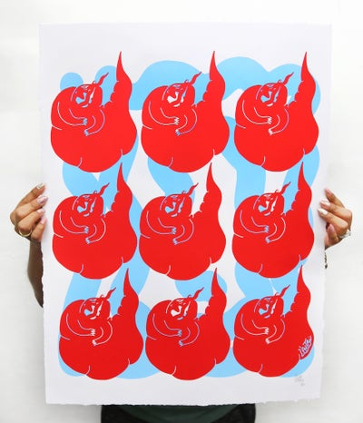 "Image of Limited Edition Two Color ""Hungry"" Le Panther Screen Print"