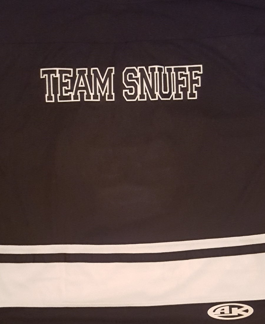 Image of LSP / TEAMSNUFF  Black Embroidered Hockey Jersey