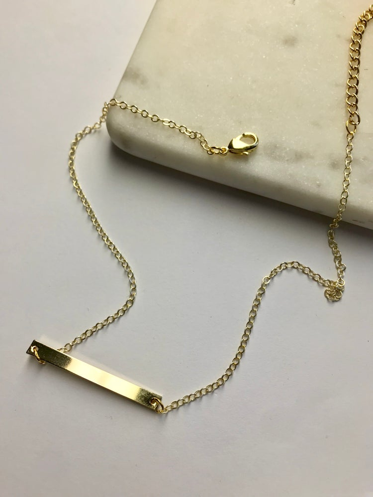 Image of MINIMALIST BAR NECKLACE / GOLD PLATED / SILVER PLATED
