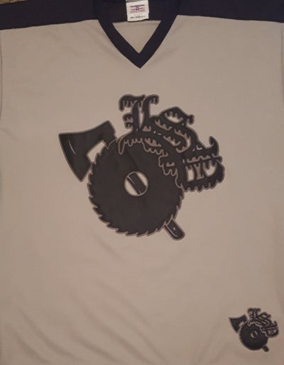 Image of LSP : Silver / Black  Embroidered Hockey Jersey