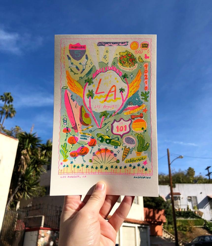 Image of Travel Card Series- LA