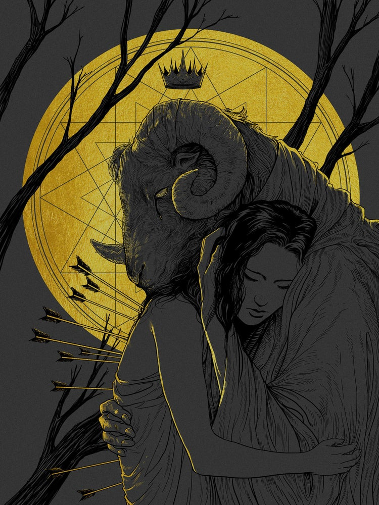 """Image of """"Final Embrace"""" - 2-Color Screen Print"""