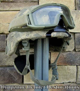Image of U.S. Army KEVLAR COMBAT HELMET SIZE LARGE ACH Upgrade parts. NVG mount. NAPE