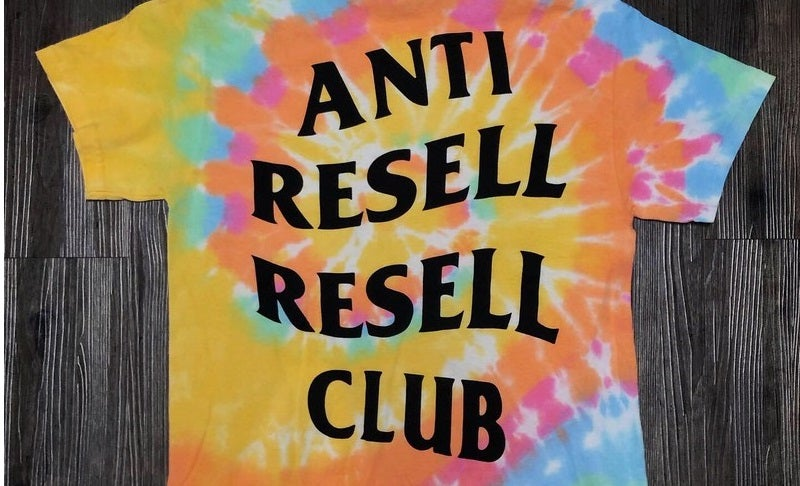 "Image of Anti Resell Resell Club Short Sleeve Tee ""Summer Tie-dye"""