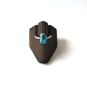 Image of Kingman Turquoise Sterling Silver Ring - Size 7