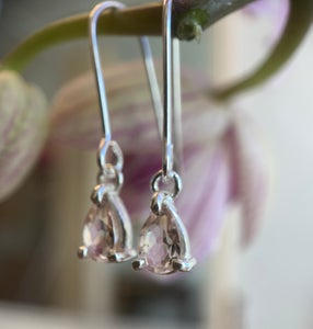 Image of Morganite Drop Earrings