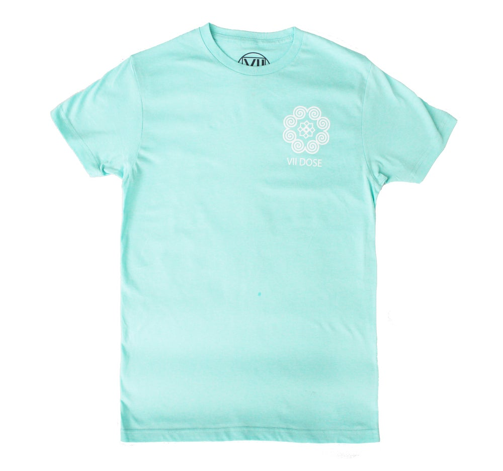 "Image of ""Roots & Culture"" Logo Tee (Mint, Rose, & Black)"