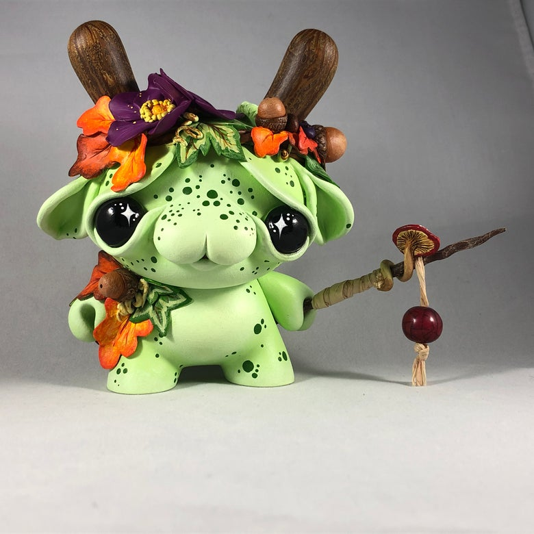"Image of Elfir the Forest Shaman - 5"" Custom Kidrobot Dunny"