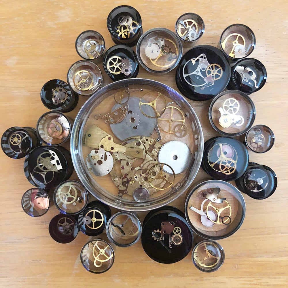 "Image of Steampunk Plugs (sizes 00g-2"")"