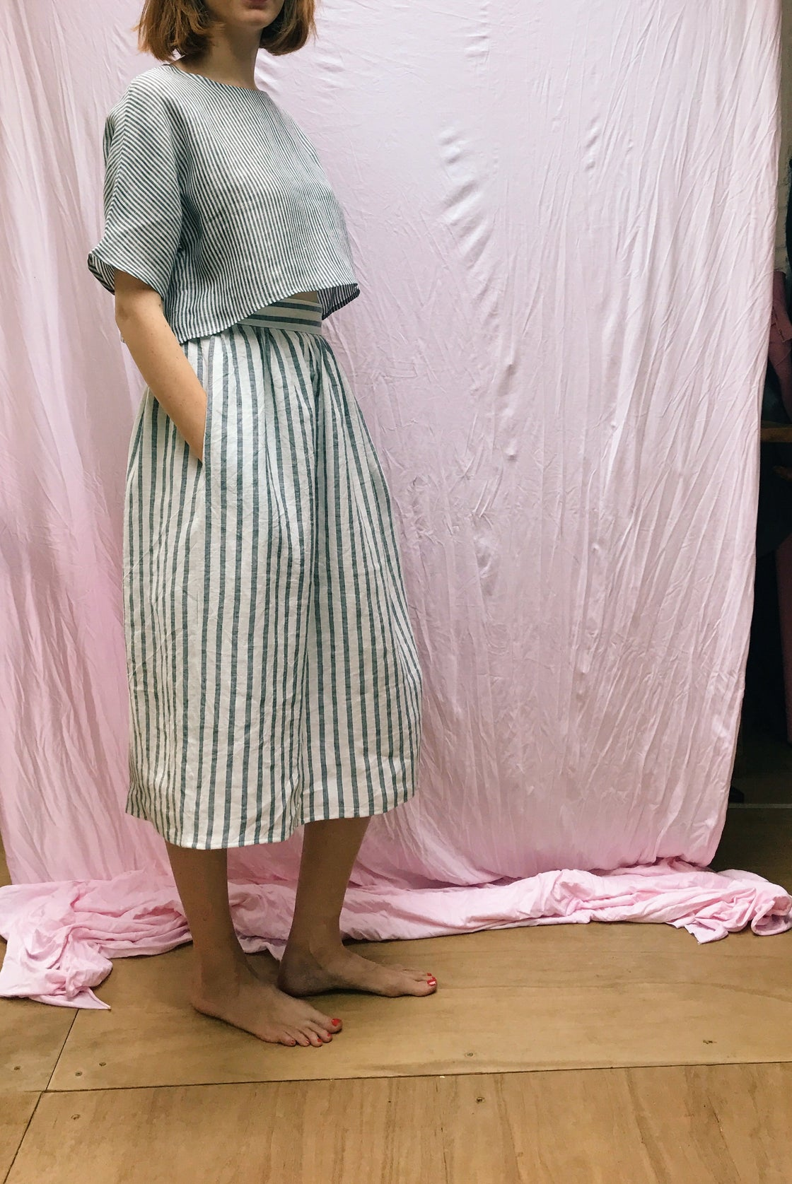 Image of EDDIE gathered skirt